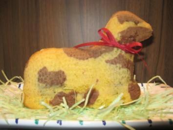 Geflecktes Osterlämmchen oder Häschen - Rezept