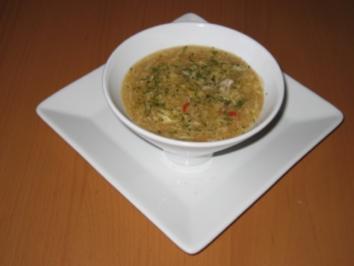 Sauer-scharfe Suppe - Rezept