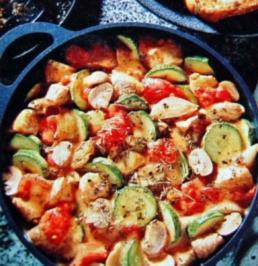 Rezept: Putengulasch mit Zucchini
