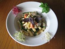 Pasta mit Fisch und Meeresalgen - Rezept
