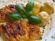 Lecker Fleisch (überbackene Schnitzel) - ruck zuck und lecker - mit Beilage - Rezept