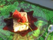 Mohnparfait auf Fruchtspiegel - Rezept