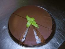 Schokoladenkuchen mit gerösteten Mandeln (ohne Mehl) - Rezept