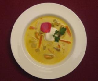 Muschelsuppe mit Orangen und Currypaste - Rezept