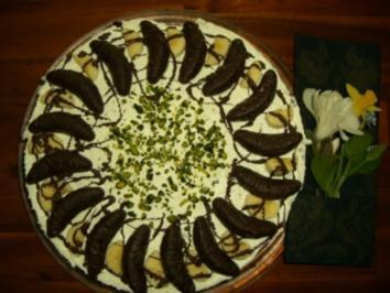 Torte : Stracciatella-Bananen-Torte - Rezept