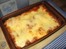 Lasagne -der Klassiker- - Rezept