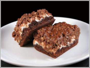 Erdnussbutter Marshmallow Knusper Brownies Rezept Kochbar De
