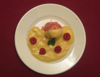 Himbeer-Chili-Parfait mit Marsala-Zabaione - Rezept