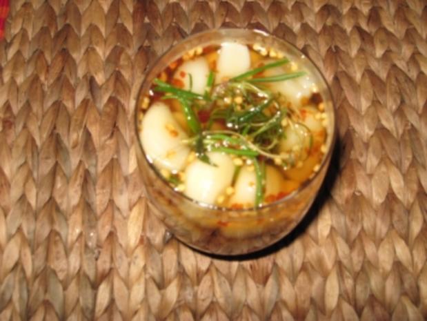Eingelegter Knoblauch in Honig und Rosmarin - Rezept