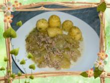Hack : Schmorgurkenfleisch mit Dillkartoffeln - Rezept