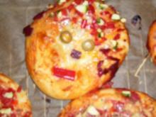 Pizzagesichter und Schnecken - Rezept