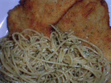 Piccata mit Knoblauchspaghetti Didas Art - Rezept