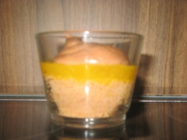 Schoko-Creme-Dessert mit Fruchtschicht - Rezept - Bild Nr. 3