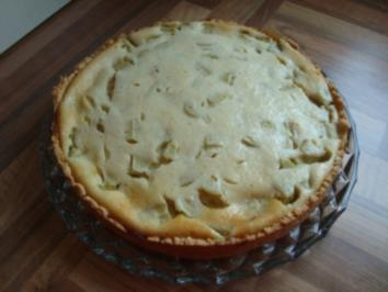 *Kuchen - Käsekuchen mit Rhabarber - Rezept