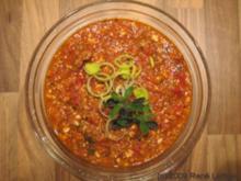 Sauce Bolognese - schnell mit wenig Fleisch - Rezept