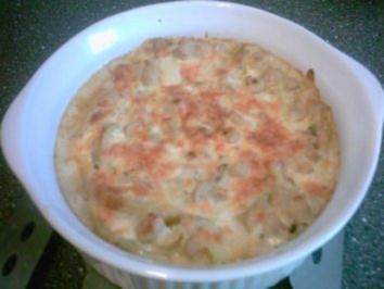 Überbackene Kartoffeln mit Pilzen - Rezept