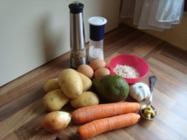rez. kl. Mahlz. - Möhren - Kartoffelpuffer mit Avocadocreme - Rezept - Bild Nr. 2