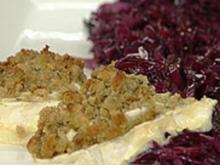 Gebratener Rotkohl mit Walnüssen und gratiniertem Ziegenkäse - Rezept