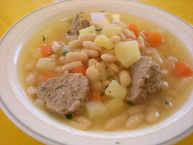 EINTOPF/SUPPEN: Weiße-Bohnen-Suppe mit Hackmurmeln - Rezept - Bild Nr. 2