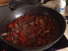 Paprika-Pilz-Zwiebel-Gemüse - Rezept