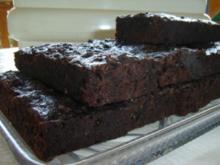 Kuchen: Brownies mit Zucchini - Rezept