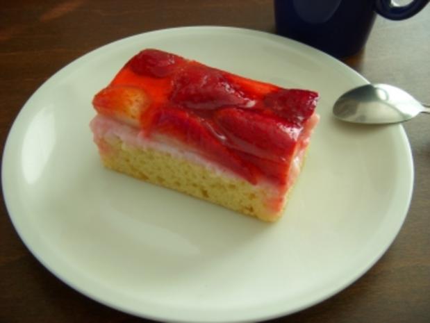 Erdbeerschnitten - Rezept