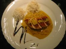 Hähnchenbrust mit Lauch-Safran-Sauce - Rezept