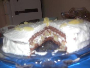 Rezept: Ananas-Kokosjoghurt-Torte