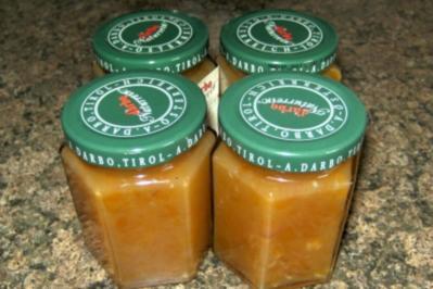 Aprikosenkonfitüre mit weißer Schokolade - Rezept