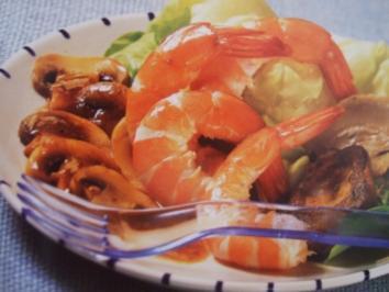 Rezept: Lauwarmer Salat mit Langschwanzkrebsen