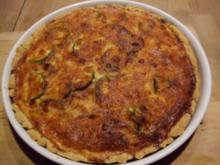 Zucchini-Tomaten-Quiche - Rezept