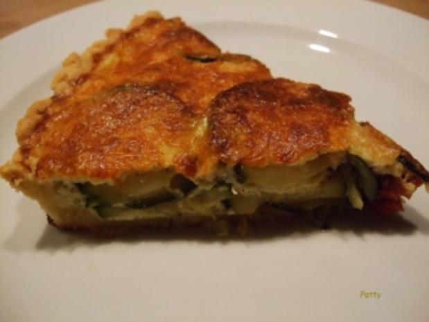 Zucchini-Tomaten-Quiche - Rezept - Bild Nr. 2