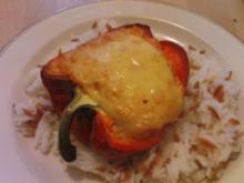 Paprika mit Frischkäsefüllung - Rezept