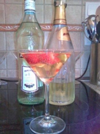 Erdbeer-Martini-Cocktail - Rezept