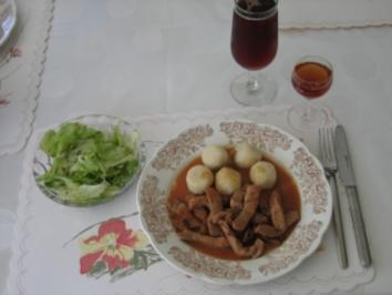 Hauptgericht: Filetstreifen mit Sauce Bigarade - Rezept