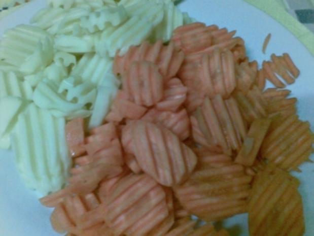 Hähnchenschenkel , Kartoffeln und Möhren - Rezept - Bild Nr. 3