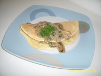 Oma Inge ´s Champignon - Omelette - Rezept