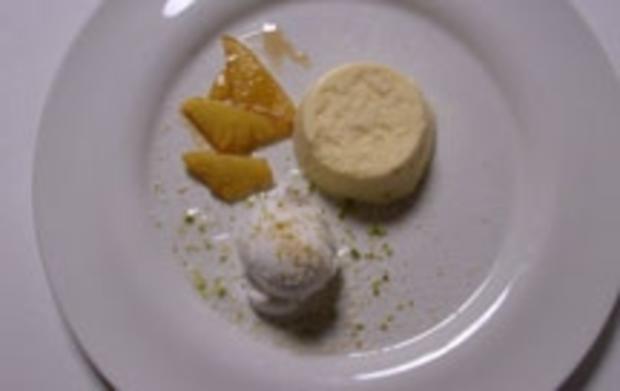 Pina-Colada-Mousse mit flambierter Ananas - Rezept