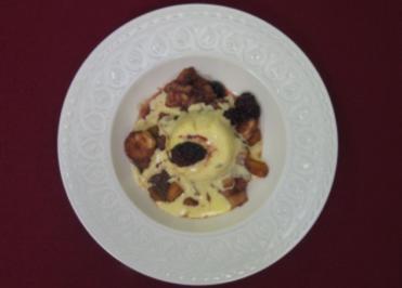 Vanilleparfait mit karamellisierten Früchten - Heiße und kalte Verführung - Rezept