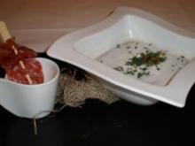 Maronensuppe mit Hirschschinken - Rezept