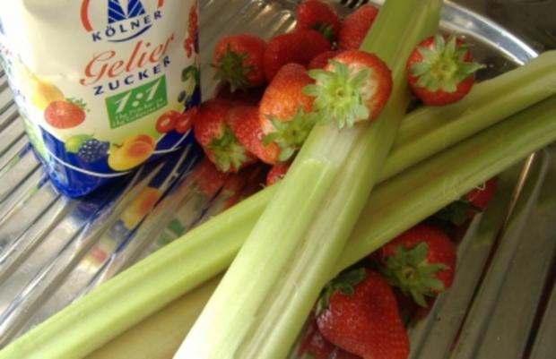 Rhabarber-Erdbeer-Marmelade - Rezept - Bild Nr. 2