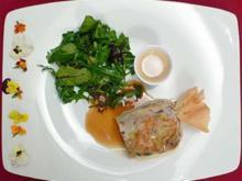 Kräutersalat an Lammbonbon - Rezept