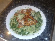 Spaghetti mit Rahmspinatsoße - Rezept