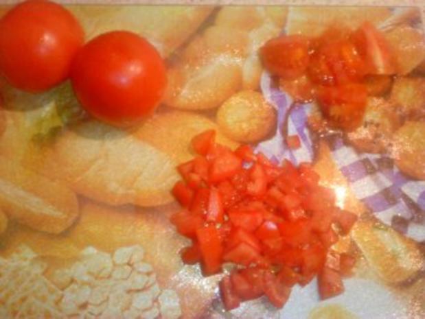 Tortellini - Tomaten - Salat mit Frühlingszwiebeln - Rezept - Bild Nr. 4