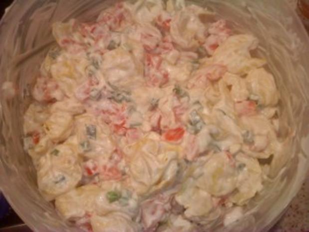 Tortellini - Tomaten - Salat mit Frühlingszwiebeln - Rezept - Bild Nr. 5