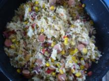 Hauptgericht: Reis-Würstchen-Pfanne - Rezept
