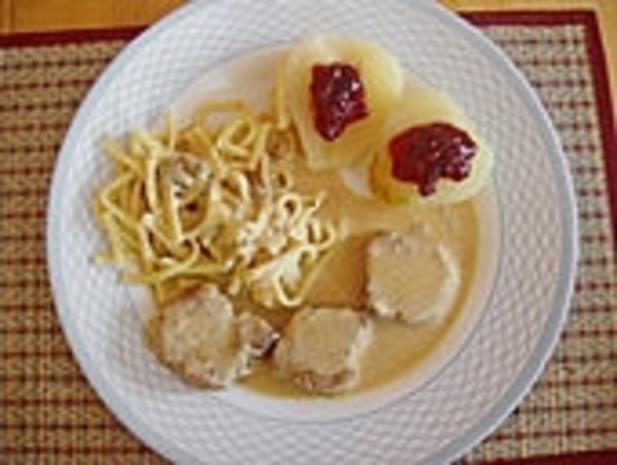 Schweinemedaillons mit Gorgonzolasoße - Rezept