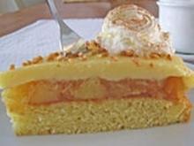 Apfelkuchen mit Pudding-Eilikör-Guss - Rezept