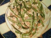 Flammkuchen mit grünem Spargel - Rezept