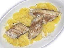 Felchenfilets mit Champignons-Frischkäse-Füllung - Rezept
